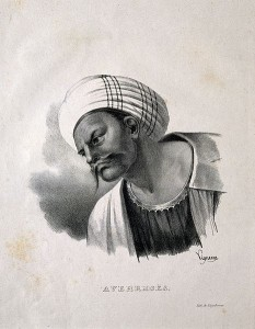 Averroes._Lithograph_by_P._R._Vignéron,_1825._Wellcome_V0000251