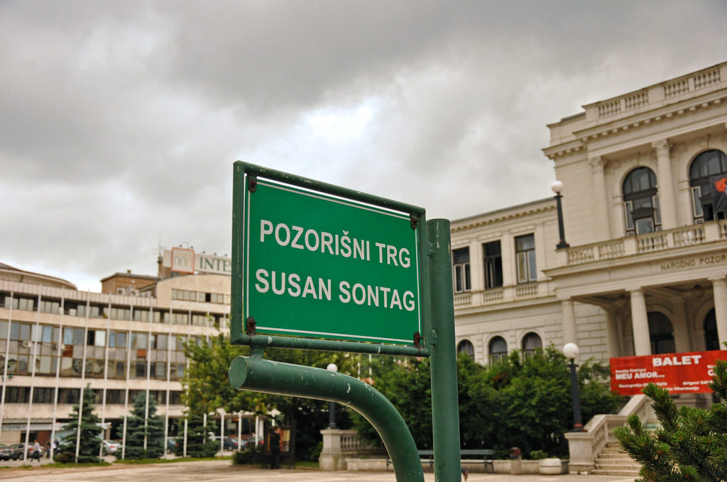 Susan Sontags plass i Sarajevo. (Foto: Jennifer Boyer / Flickr)