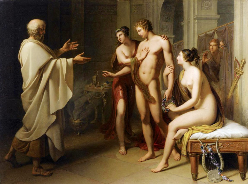 Socrates reproaching Alcibiades
